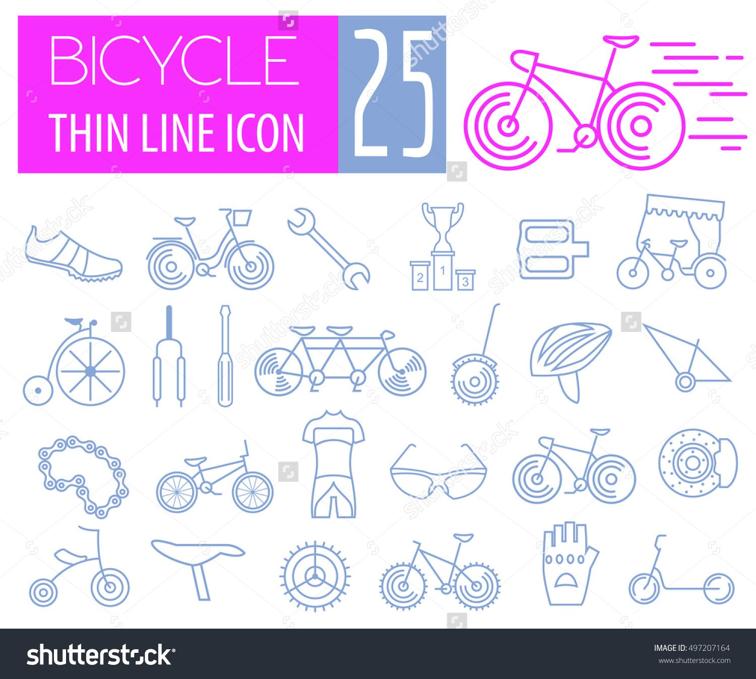 Bicycle icon set # 4
