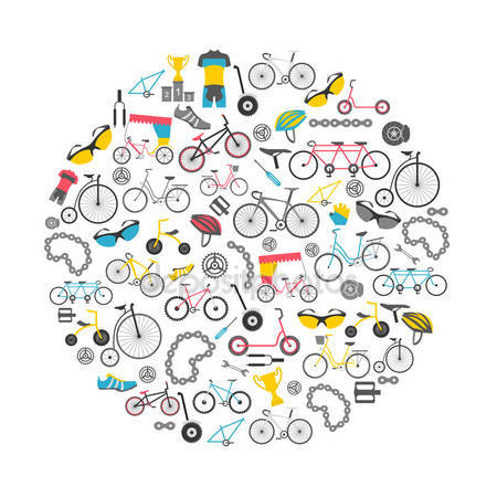 Bicycle icon set # 6