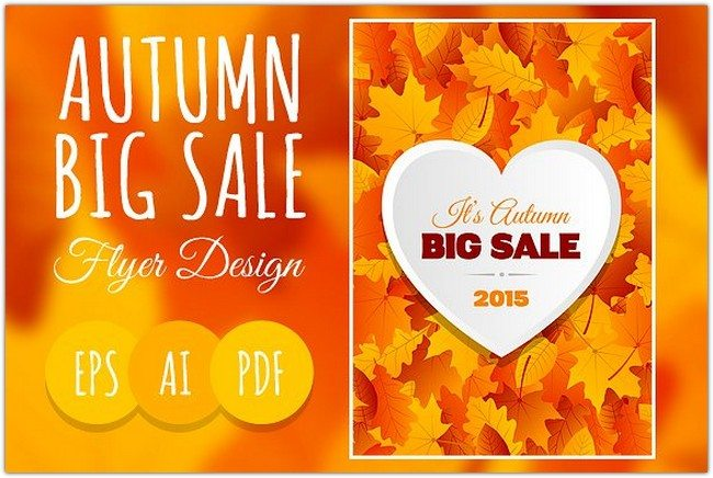 Big Autumn Sale Flyer Design