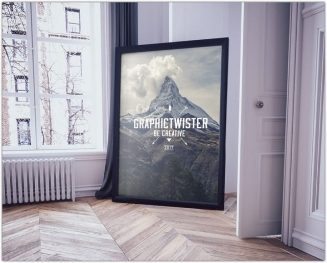 Big Picture Frame on the Floor