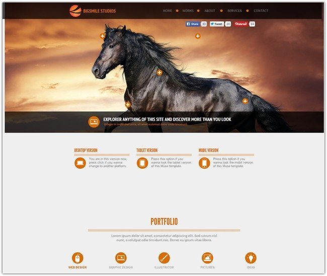 Big Smile Muse Template Multipurpose Page
