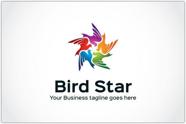 Bird-Star-Logo-Template