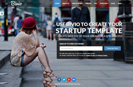 Bivio - Bootstrap 3 App Landing Page WordPres