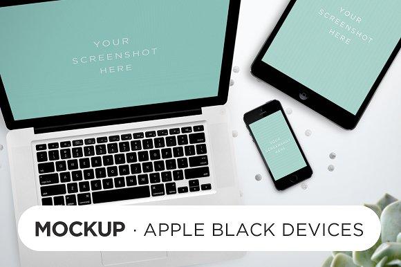 Black Devices Mockup