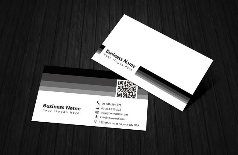 Black & White Business Card Template