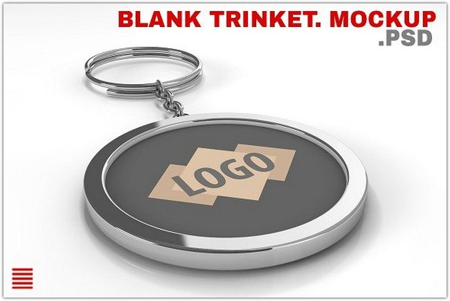 Blank metal keychain Mockups