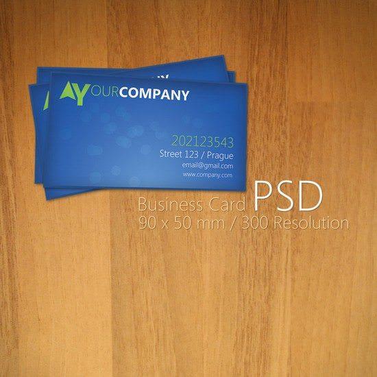 Blue Business Card PSD