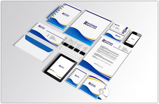 Blue Corporate Identity Template # 2