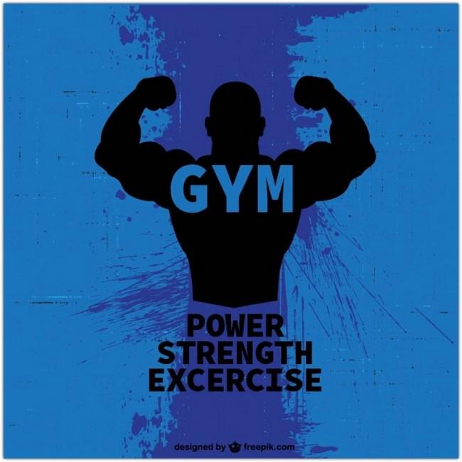 Bodybuilder logo Free Vector