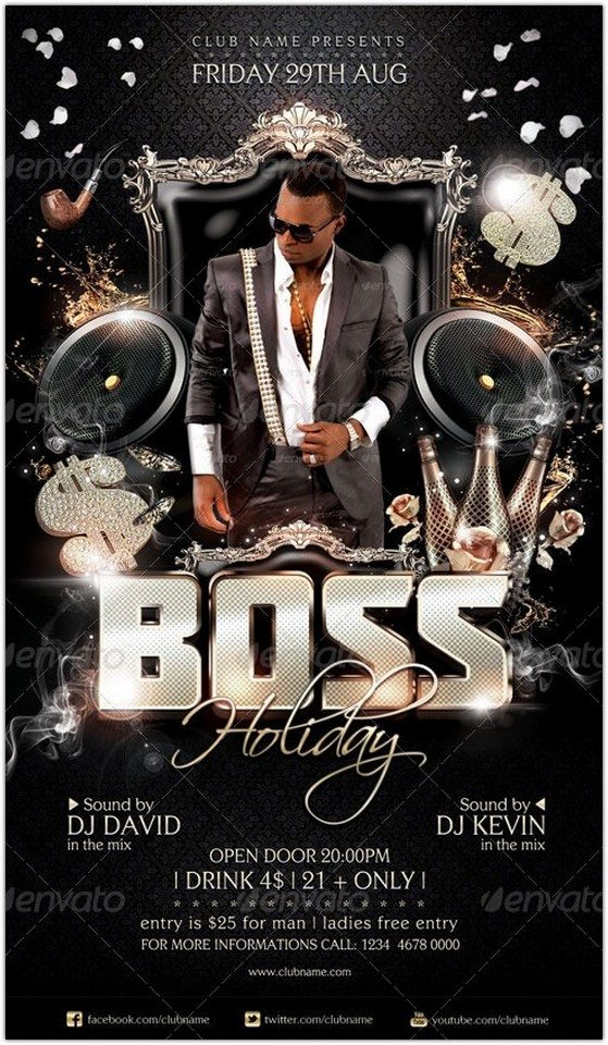 Boss Holiday Flyer Template