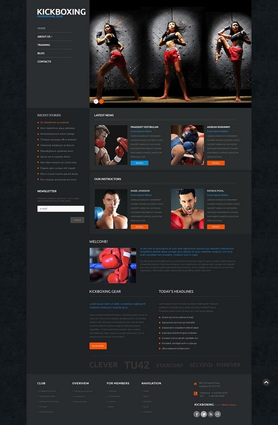 Boxing Responsive WordPress Theme