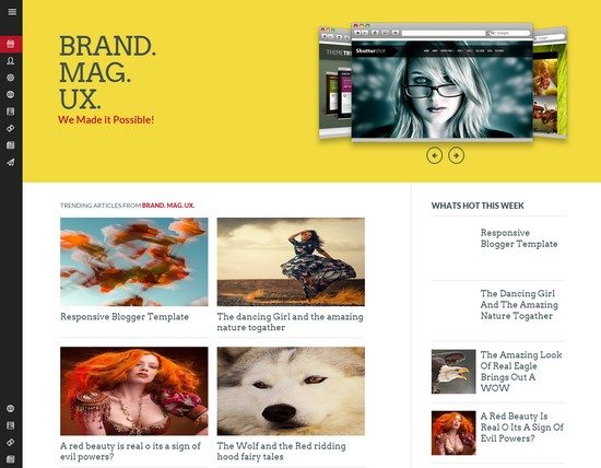 Brand Mag Blogger Template