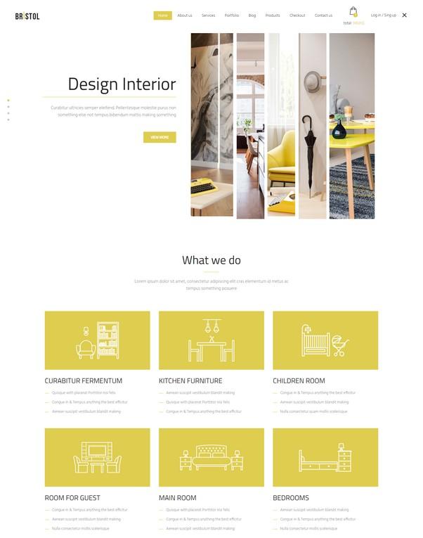 Bristol - Interior eCommerce HTML Template