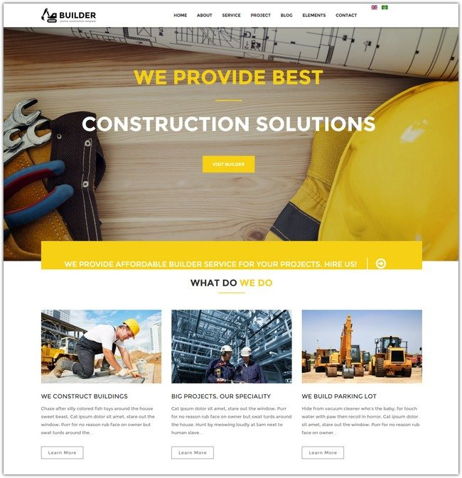 Builder - Joomla Construction Template
