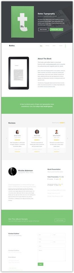 Bukku – Free HTML/CSS Book/eBook Template