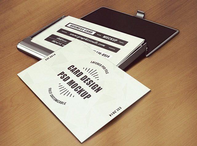 120 free business card mockup psd templates 2018 templatefor business card mockup vol5 reheart Image collections