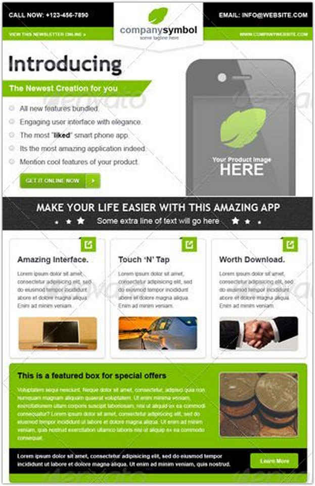 business-email-newsletter-template