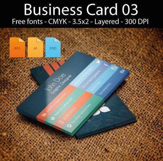 Business card design flat Freebie