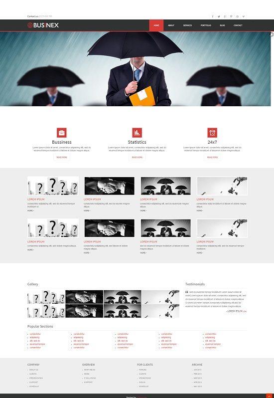 Businex a Corporate Mobile website Template