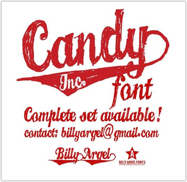 CANDY INC. Font by Billy Argel