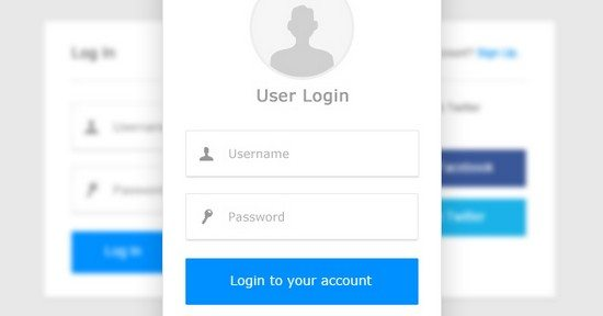 CLEAN AND SMOOTH LOGIN BOX PSD