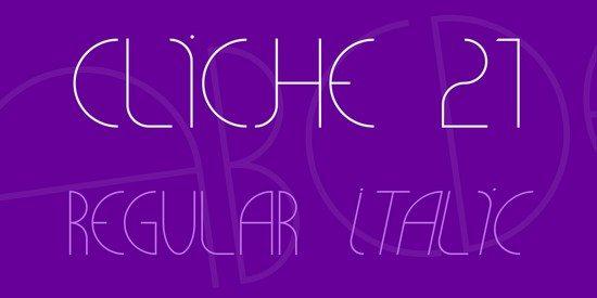 CLiCHE 21 Font Family