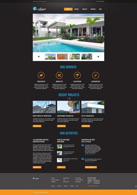 CON SOLAMINI Exterior Design Responsive Website Template