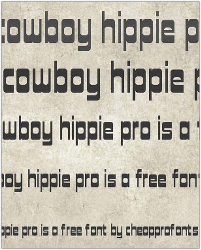 COWBOY HIPPIE PRO FONT FREE