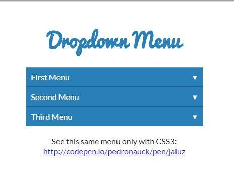 CSS3 Javascript Pure Dropdown Menu