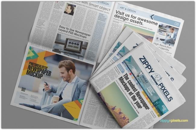 CUSTOMIZABLE NEWSPAPER & ADVERTISING MOCKUP