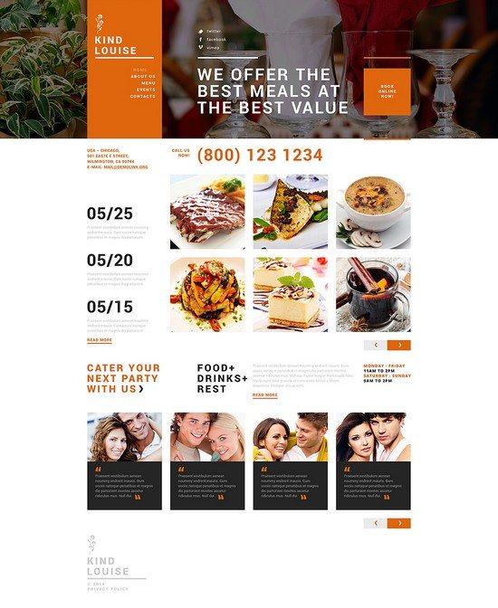 Cafe House Joomla Template