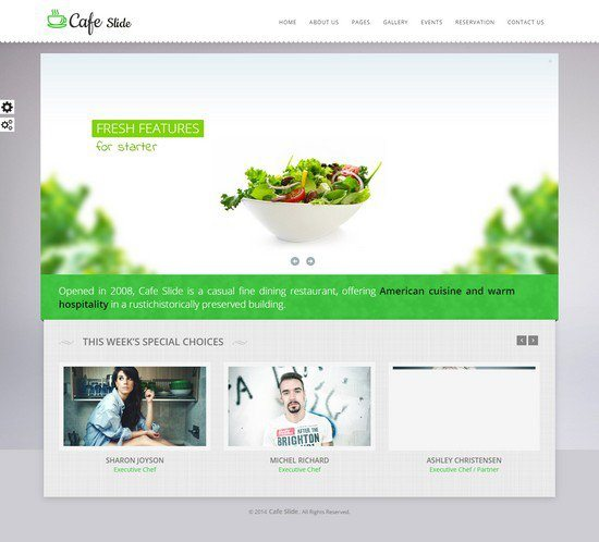 Cafe Slide - Responsive Restaurant HTML5 Template