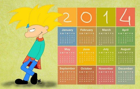 Calendar 2014 Arnold's smile