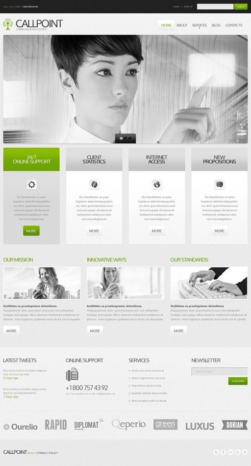 Callpoint Communications Website Template