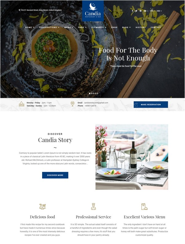 Candia - Bar & Restaurant Template