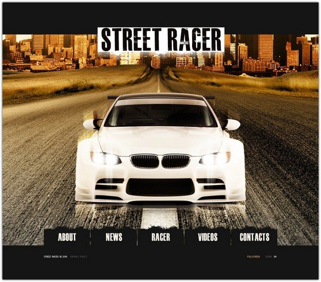Car Racing Flash Template