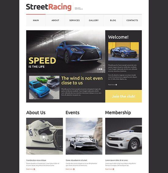 Car Racing Responsive Website Template 1