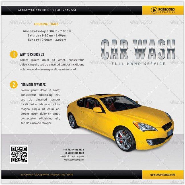 Car Wash Bifold Brochure 01