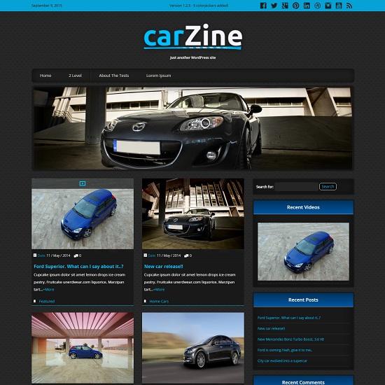 CarZine Twitter Bootstrap Free WordPress Theme