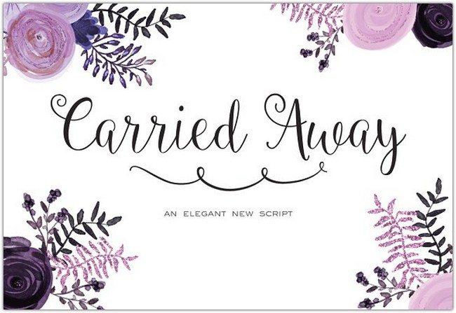 Carried Away Script + Monogram