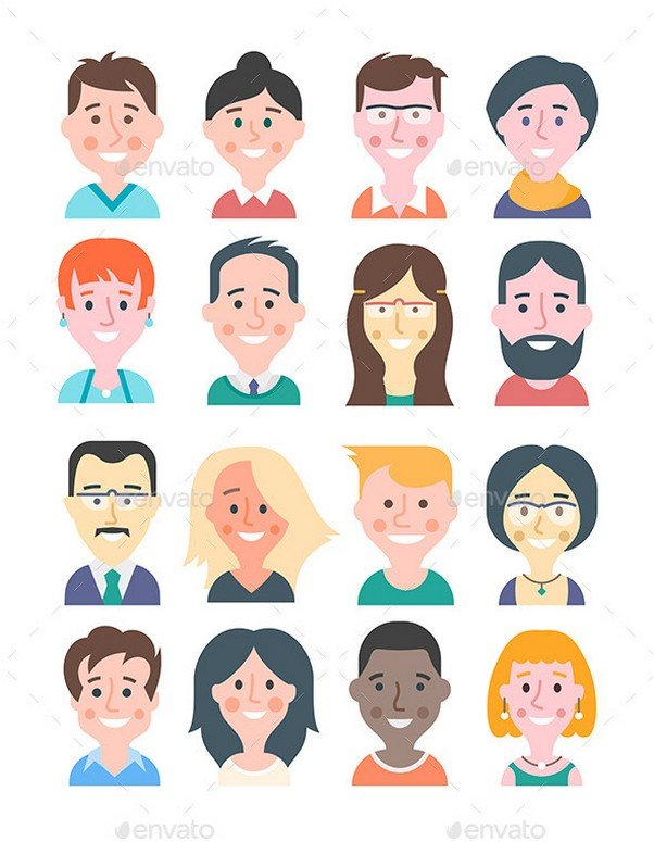 Cartoon People Avatars
