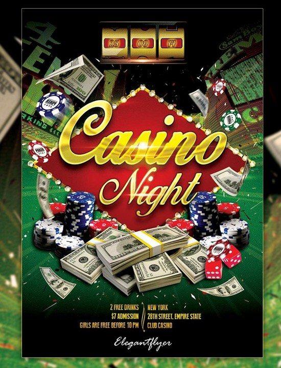 Casino Night – Free Flyer PSD Template