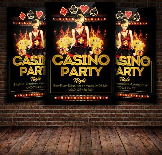 Casino Party Flyer