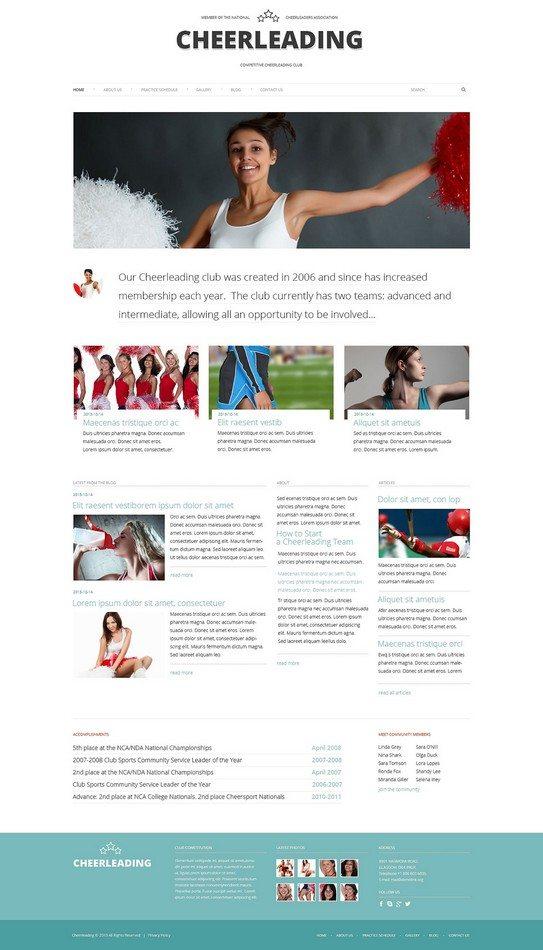 Cheerleading Club WordPress Theme