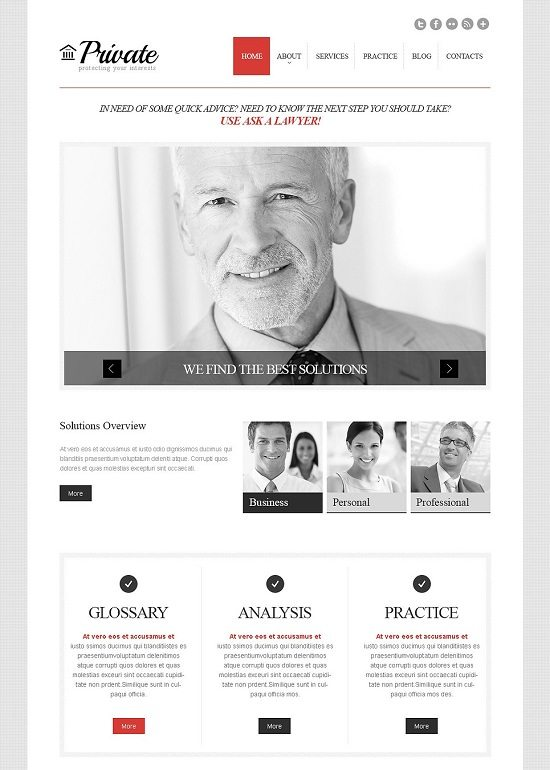 Cherry Law Firm WordPress Theme