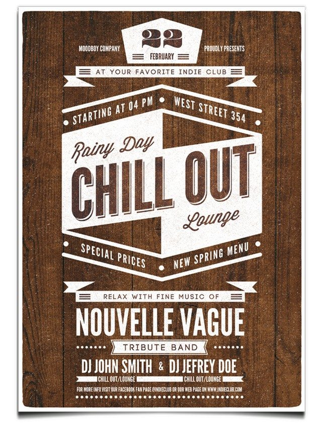 Chill Out Flyer Poster Template