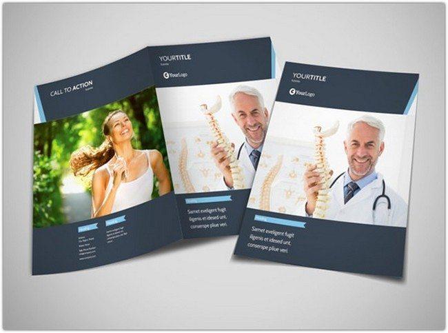 Chiropractor Therapy Bi-Fold Brochure Template