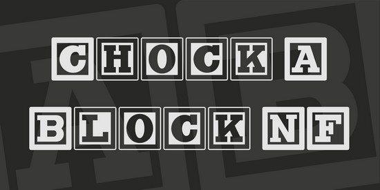 Chock A Block NF Font