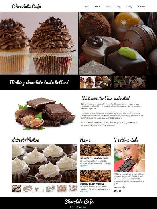 Chocolate Cafe Responsive Joomla Template