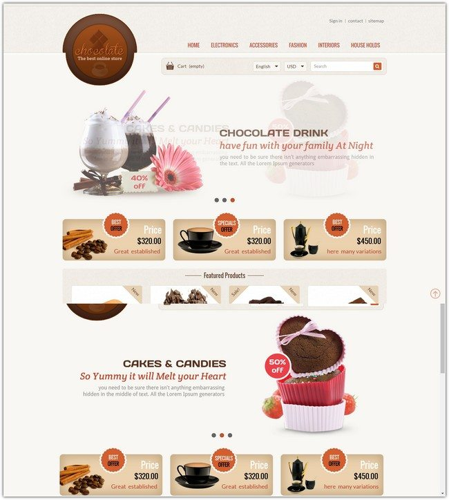 Chocolate – Prestashop Responsive Theme